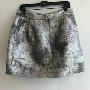 Ladakh Abstract Pattern Black And Silver Skirt